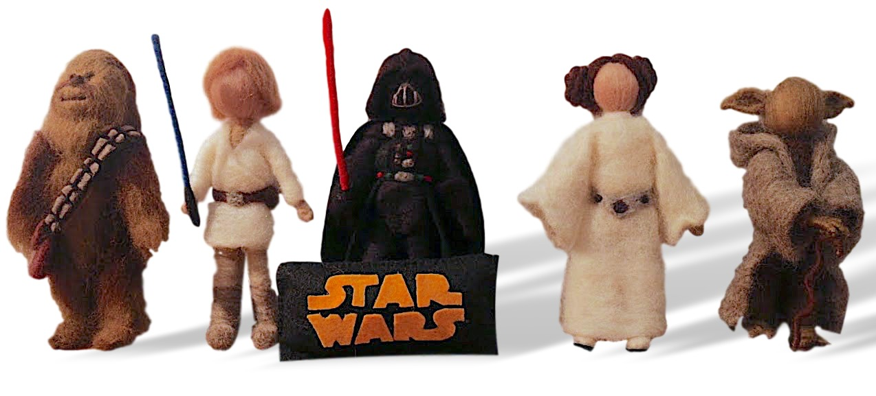 Kit Bonecos crochet Star Wars