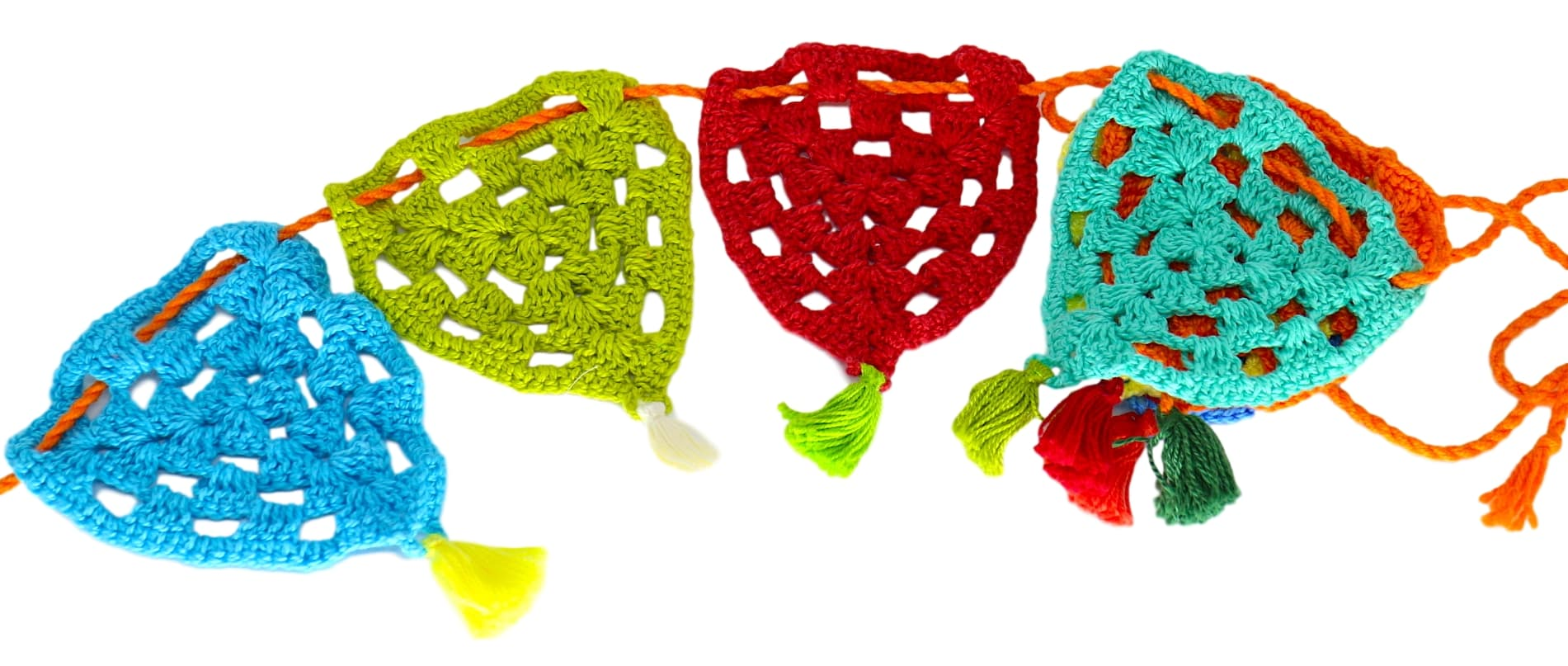 Banderola crochet colorida